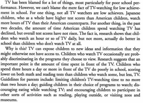 in what ways television affects essay The effects of television on children and adolescents an annot at e d bibliography with an introductory overview of research results prep are d by the international association for.