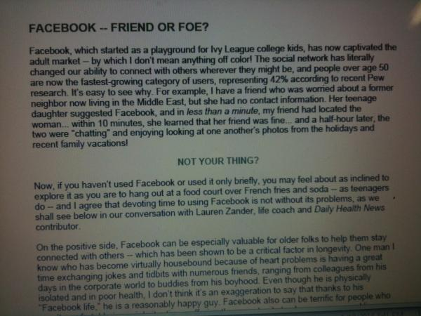 facebook friend or foe essay Friend or foe, san francisco 220 me gusta digital ideation, design and strategy.