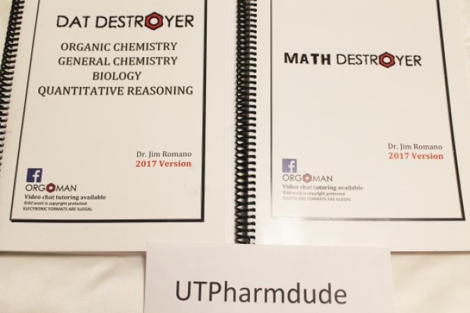dat destroyer 2017 and math destroyer 2017 bundle mcat pcat prep